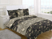 ARMY CAMOUFLAGE SINGLE Size 4pc Bed In A Bag Duvet Cover Bedding Set