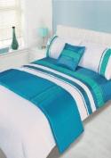 ATLANTA BLUE KING Size 5pc Bed In A Bag Duvet Cover Bedding Set