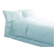 Charlotte Thomas Percale Plain Dye, Quilt Cover Set Ice Blue, King Size