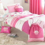 Cupcakes Duvet Cover Set, Pink, Single