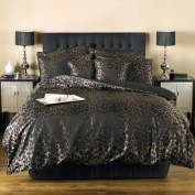 Curtina Sierra Double Quilt Cover-inch, Black/gold