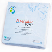 B.Sensible Tencel Duvet Cover and Waterproof Protector Size 260 x 220cm (fits super king bed, 180 x 200cm) in White.