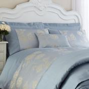 Charlotte Thomas Antonia Faux Silk Jacquard Boudior Cushion Cover, Powder Blue, 30 x 50 Cm