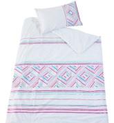 Kas Kids Ellie Appliqued 100% Cotton Bed Linen 140cm X 200cm & 1 X Pc Single Size