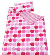 Kas Kids Little Apples 100% Printed Cotton Bed Linen 200cm X 200cm & 2 X Pc Double Size