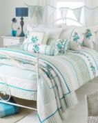 Appleby Romany Floral Duvet Cover Set, White/Green, Super King