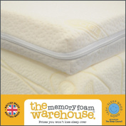 7.6cm King Size Memory Foam Mattress Topper with Coolmax cover - 75kg