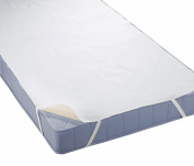 Biberna 808315-001-140 Water Permeable Molton 100 x 200 cm Mattress Cover White