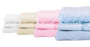 Nursery Baby Bale Pram/Moses Starter Set Blue - Cellular, Popcorn Blanket, Jersey Sheet Gift Set