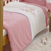 Patch Pink Embroidered Cot Quilt