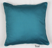 Luxury 100% Cotton Plain dyed Cushion Covers, Teal 45X45cm