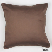Luxury 100% Cotton Plain dyed Cushion Covers, Brown 45X45cm