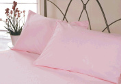 Brushed Cotton Flannelette Pillowcase Pairs, Pink, Housewife