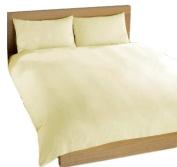 Charlotte Thomas, Percale Plain Dye Quilt Cover Set, Ivory, Single Size