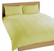 Charlotte Thomas, Percale Plain Dye Quilt Cover Set, Rich Cream, King Size