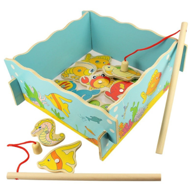 Wooden Traditional Magnetic Fishing Game