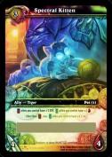 Spectral Kitten World of Warcraft Scourgewar Loot Card