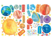 Wallies Peel and Stick Wall Play Mural, Solar System