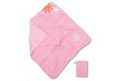 Baby Boum Pretty Petal Hooded Bath Towel and Wash Mitt