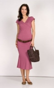9Fashion Simply Dress-Pink-M