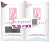 Bumpband Twinpack (Black and White, Band Size 2, Dress Size 14-18 Pre-pregnancy) -