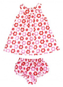 Toby Tiger Baby Girl's Pop Flower Dress and Frilly Pants