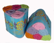 Bright Bots Terry Towelling Nappy Squares Girl Combo for Newborn