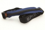 SPIbelt Adult Race Belt Blue/Black Zipper/Logo Band