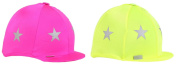 Fluorescent Lycra Skull Cover / Hat Silk With Reflective Stars, Colours