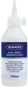 Keratex Nail Hole Disinfectant - Powerful disinfectant, prevents white line disease & infection as well has securing nails - 200ml nozzle bottle