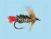 Turrall Red Tag Wet Hackled Trout Fishing Flies Pack of 3