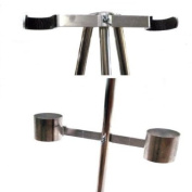 Telescopic Sea Fishing Beach Tripod With Twin Head and Alloy Cups