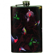River's Edge Fly Fishing Stainless Steel 270ml Pocket Flask