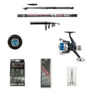 Telescopic Carbon Coarse Fishing Rod and Reel with Accesory kit.