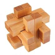 Vintage 3D YX835 Wooden Brain Teaser Puzzle Game Toy