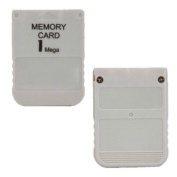 1MB White Memory Card Performance for Playstation One PS1 PSX Game