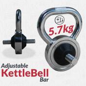 Chrome Steel Adjustable Kettlebell Home Strength Training Weight Plates Bar 2.5cm