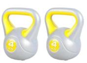 vinyl kettlebell pair 2x 4kg, kettle bells 4kg