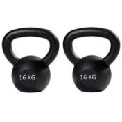 Kettlebell pair 16kg+16kg cast Kettlebell,