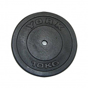 York 10kg Standard Cast Iron Discs, 2 x 10kg