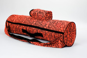 Om Yoga Mat Bag-pure cotton-water resistant lining-mobile waterbottle pocket-functional bag with inside zipper pocket