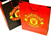 Manchester United Large Gift Bag Black