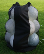 PROSTYLE SPORTS Football / Netball / Rugby 12 Ball Carry Sack Holdall Bag Heavy Duty - Black