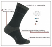 eXPANSIVE TRAVEL HIKING SOCKS CoolMax Graphite 091/01 size UK 9-12