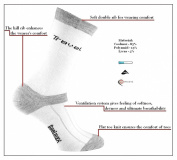 eXPANSIVE TRAVEL HIKING SOCKS CoolMax WHITE GREY 091/07 size UK 9-12