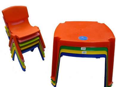 Premium Childrens Kids Plastic Table and Nursery Chair Set - Includes 4 Chairs  sc 1 st  Fishpond & Premium Childrens Kids Plastic Table and Nursery Chair Set ... islam-shia.org