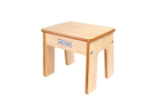 Little Helper Fstl01-1 Wooden Child Chair/ Stool with Funstool in Maple/ Natural Finish