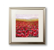 Home Furnishings Arthouse Framed Print Wall Picture Poppy Field 80x80cm 002167