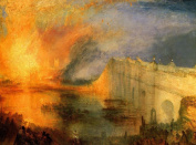 The Burning Houses of Lords & Commons by Joseph Turner Giclee Print 40 x 29 cm