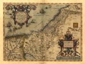 Reproduction Abraham Ortelius Map of Palestine Colour Map 48 x 33 cm